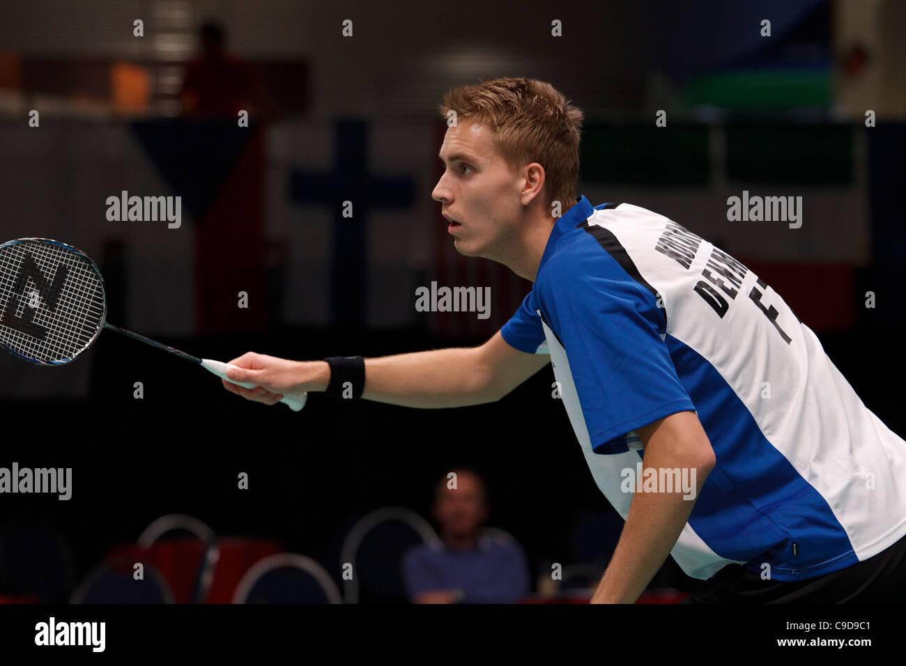 Badminton player Mads Pieler Kolding from Denmark Stock
