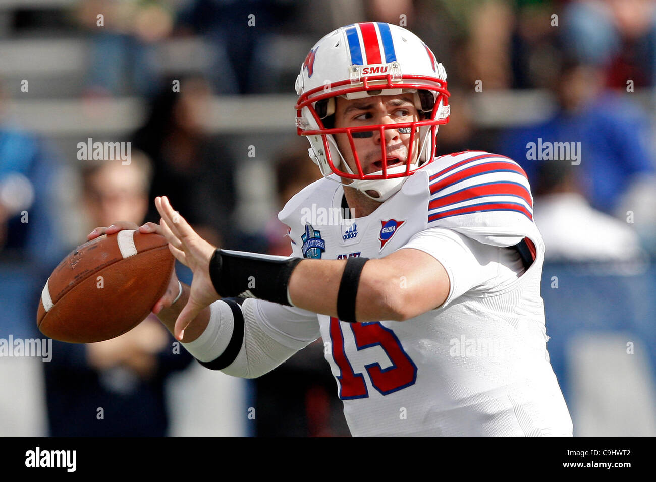 SMU QB Neal Burcham out for season with elbow injury - CBSSports.com