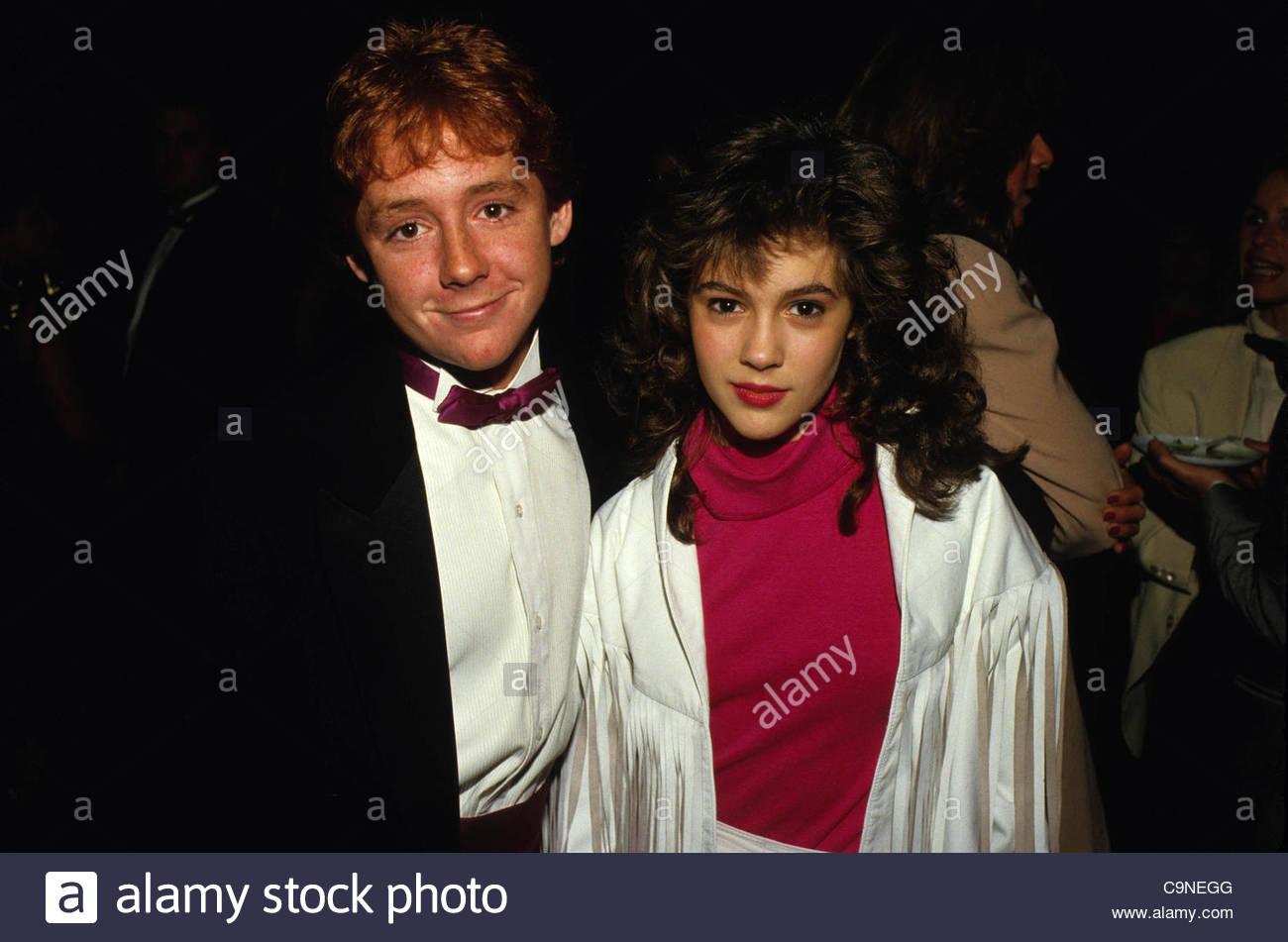 Alphy Hoffman Corey >> Jan. 28, 1987 - Hollywood, California, U.S. - F3745.ALYSSA MILANO Stock Photo, Royalty Free ...