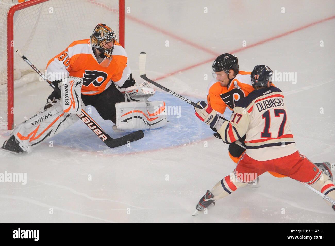 af66e9214 ... New Jersey, U.S. - Philadelphia Flyers goalie Ilya Bryzgalov Customize  Philadelphia Flyers Goalie Cut Authentic Retro Hockey Jersey Away White ...