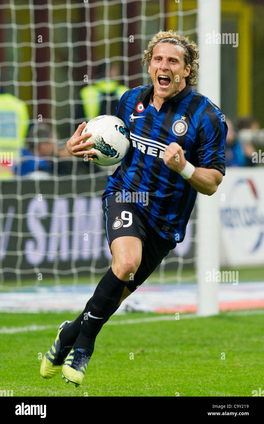 Diego Forlan Inter MARCH 4 2012 Football Soccer Diego