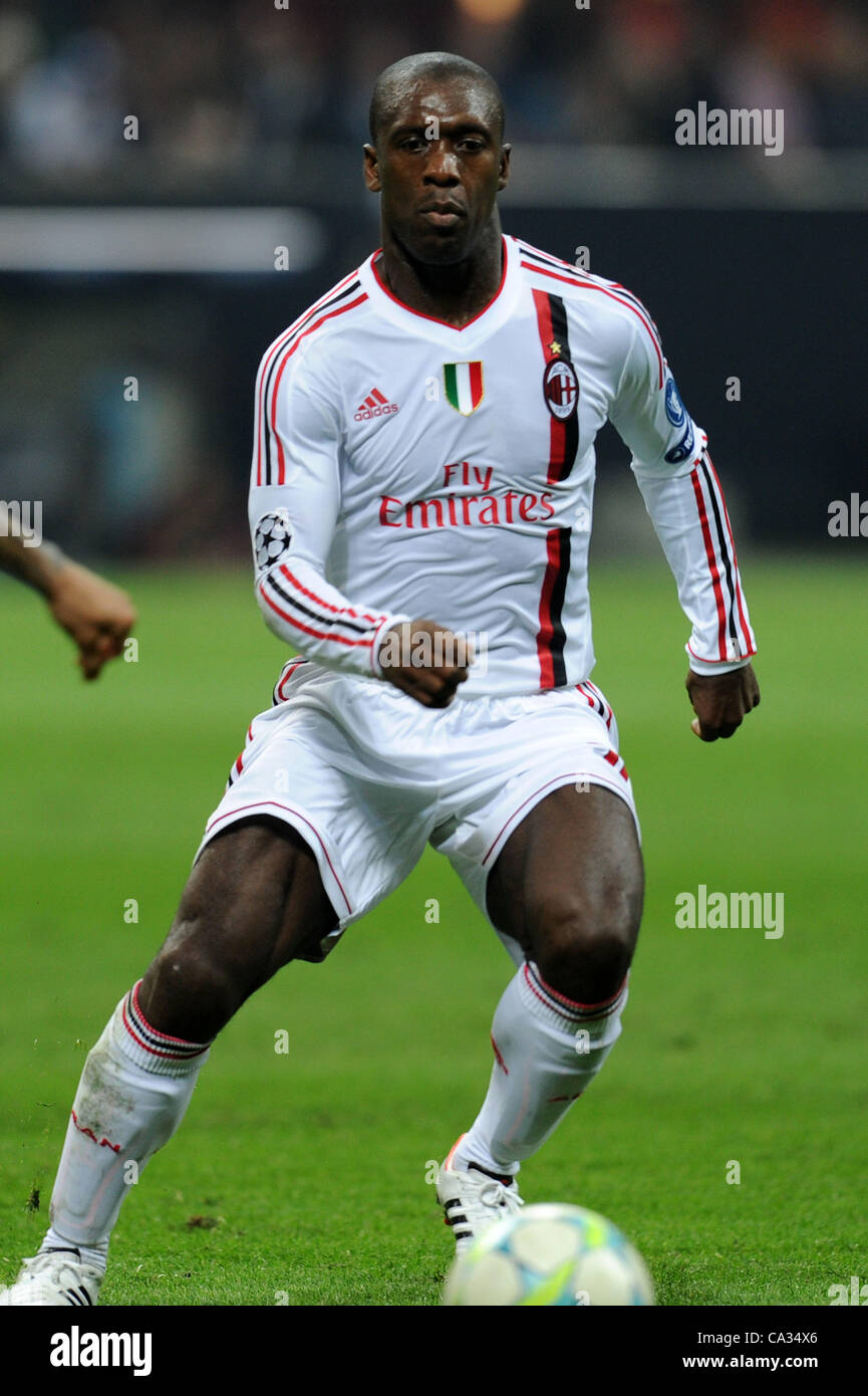 Clarence Seedorf (Milan), MARCH 28, 2012 - Football / Soccer : UEFA Stock Photo, Royalty Free ...
