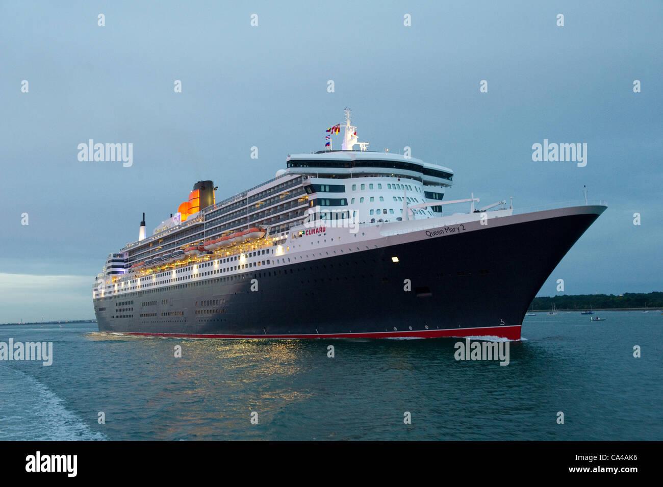 Southampton UK The Three Cunard Cruise Ships Queen Elizabeth - Cruise ships uk
