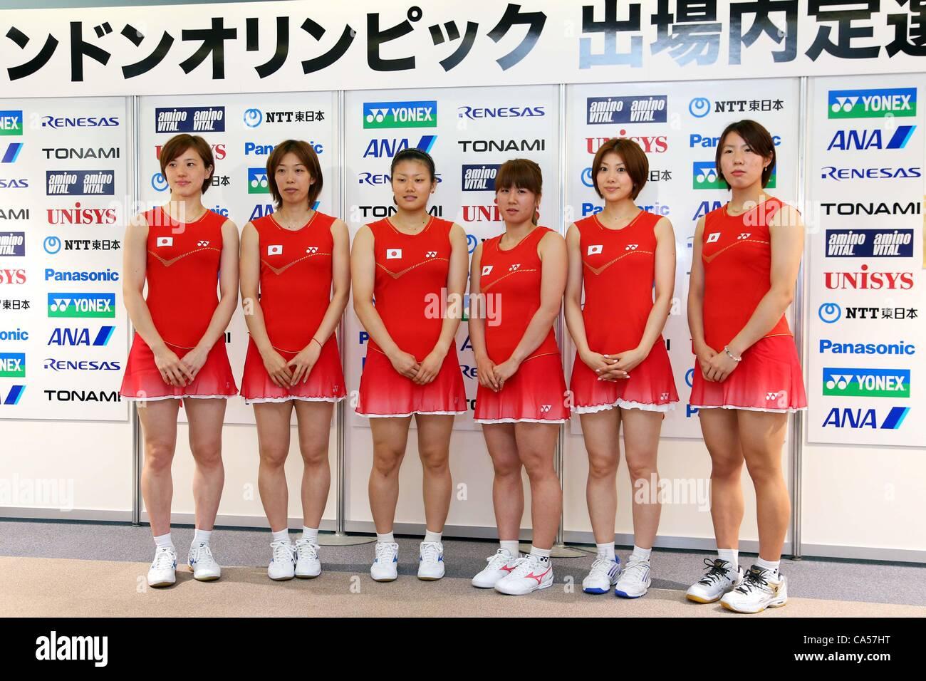 L to R Miyuki Maeda Satoko Suetsuna Reika Kakiiwa Mizuki Fujii