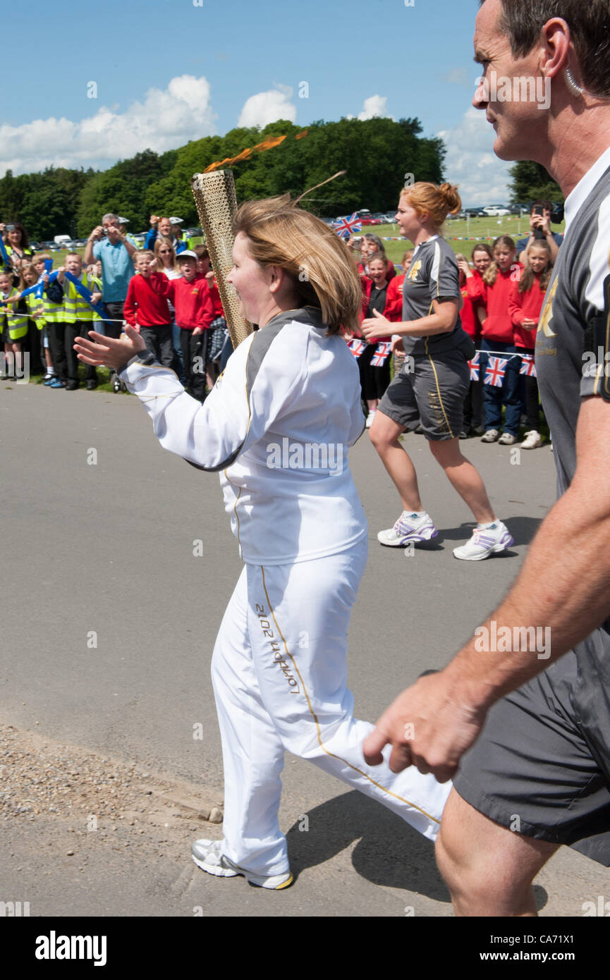janet baker 33 carries the olympic torch in the grounds of janet baker 33 carries the olympic torch in the grounds of harewood house yorkshire uk on tuesday 19th 2012