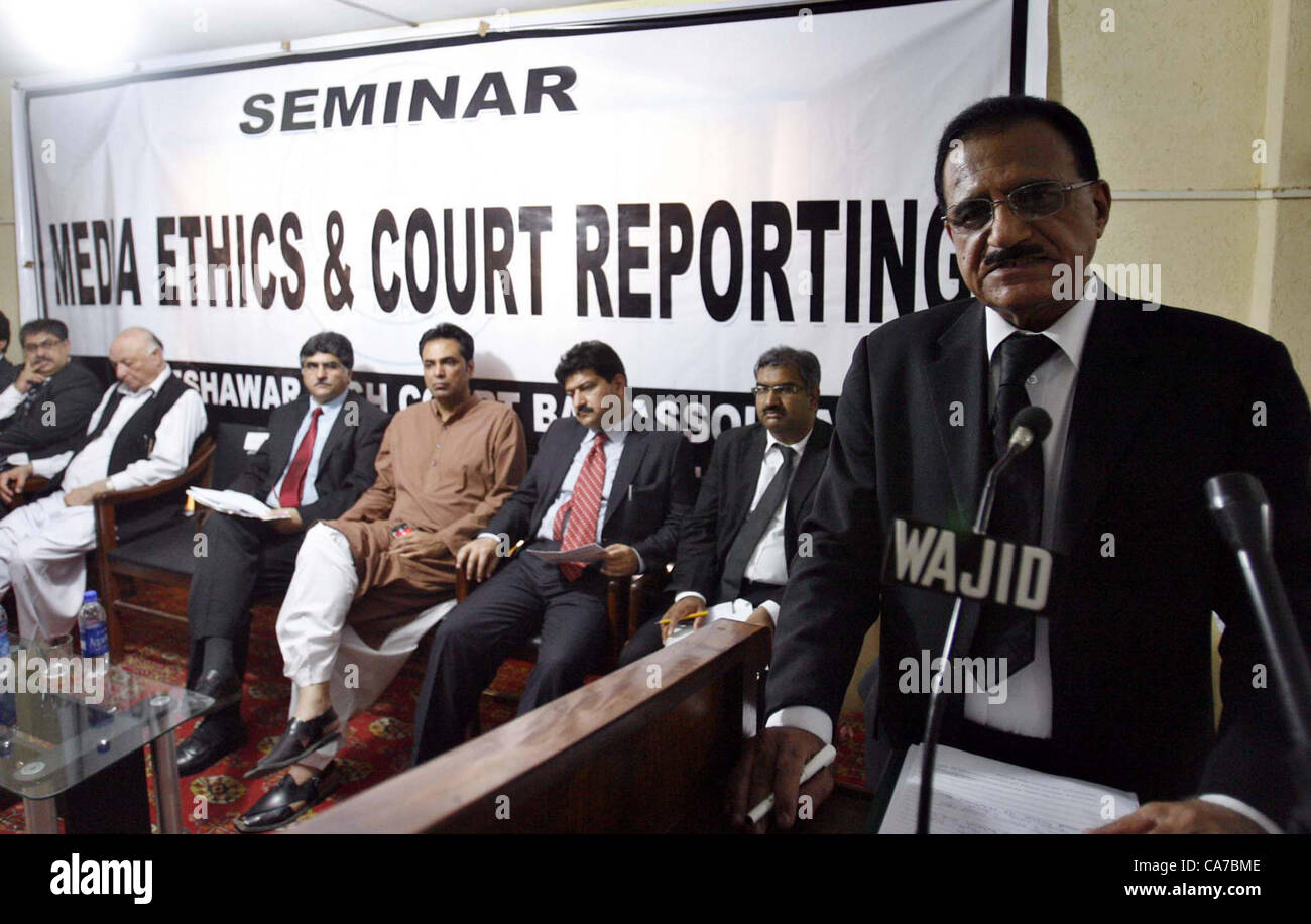 Peshawar high court chief justice dost muhammad khan addresses seminar on media ethics and court