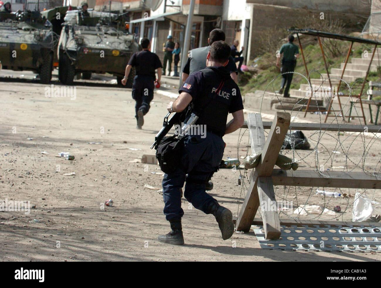 Mar 22, 2004; Kosovo, SERBIA; KFOR Peacekeeper UNMIK
