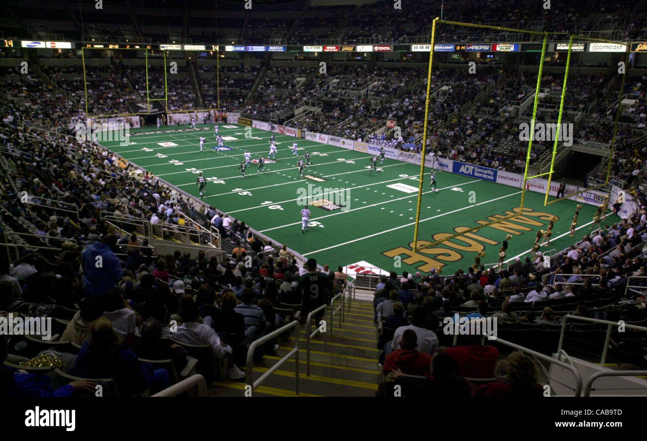 San Jose SaberCats indoor arena football game against the Stock ...
