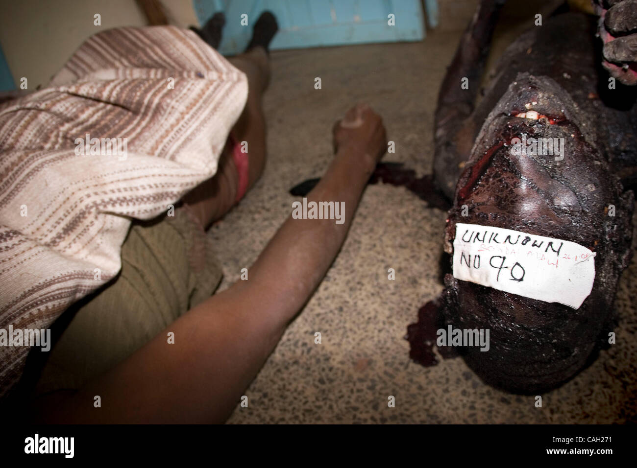 Provincial Municipal Mortuary, Nakuru Bodies Littered The Floor  Highlighting The Mortuary Was At Full Capacity. Most Of The Victims Either  Died Of Gunshot ...
