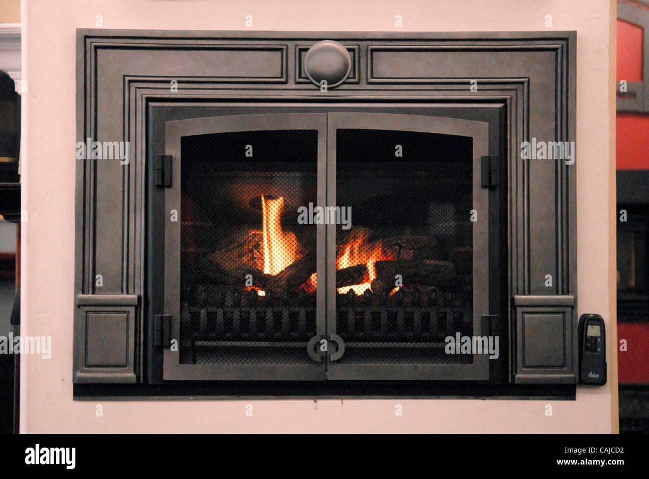 A gas fireplace insert, an option for those who want to convert ...