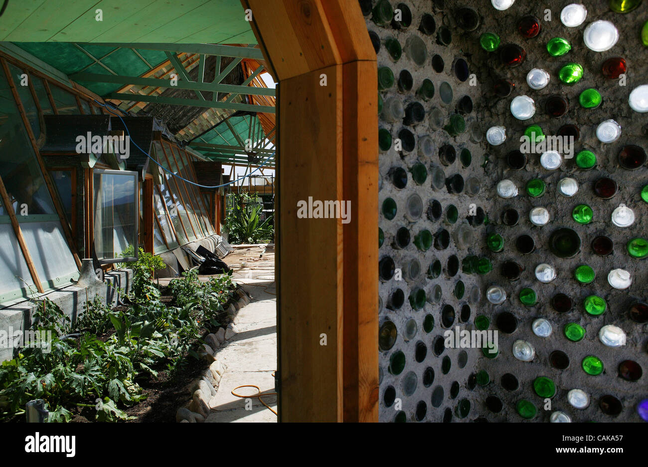 ... An Earthship, A House Made Of Recycled Tires, Bottles, And Cans In The