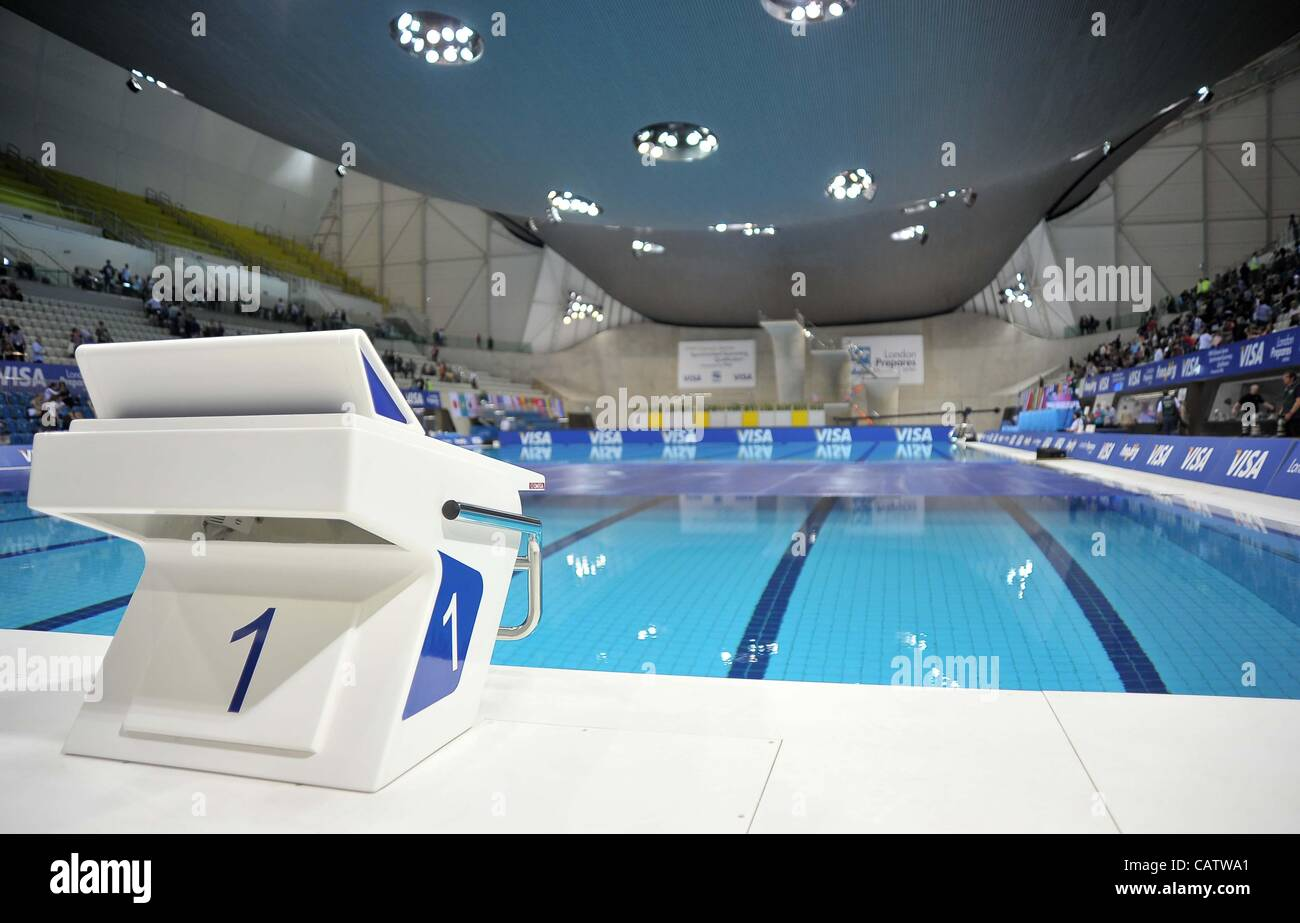 the omega number one 1 starting block at the pool london prepares series fina synchronised swimming olympic qualification - Olympic Swimming Starting Blocks