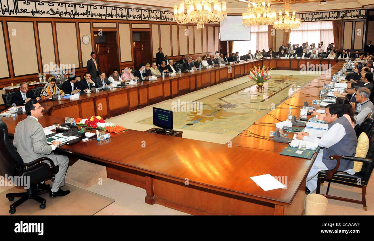 Prime Minister, Syed Yousuf Raza Gilani Chairs The Federal Cabinet Meeting  Held At PM Secretariat