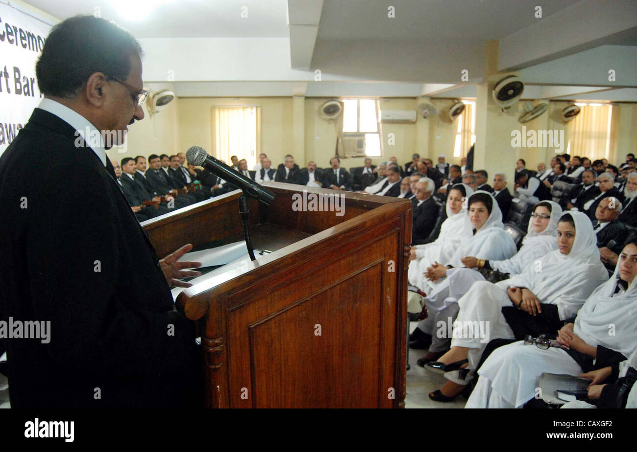 Peshawar high court chief justice justice dost mohammad addresses to oath taking ceremony of high