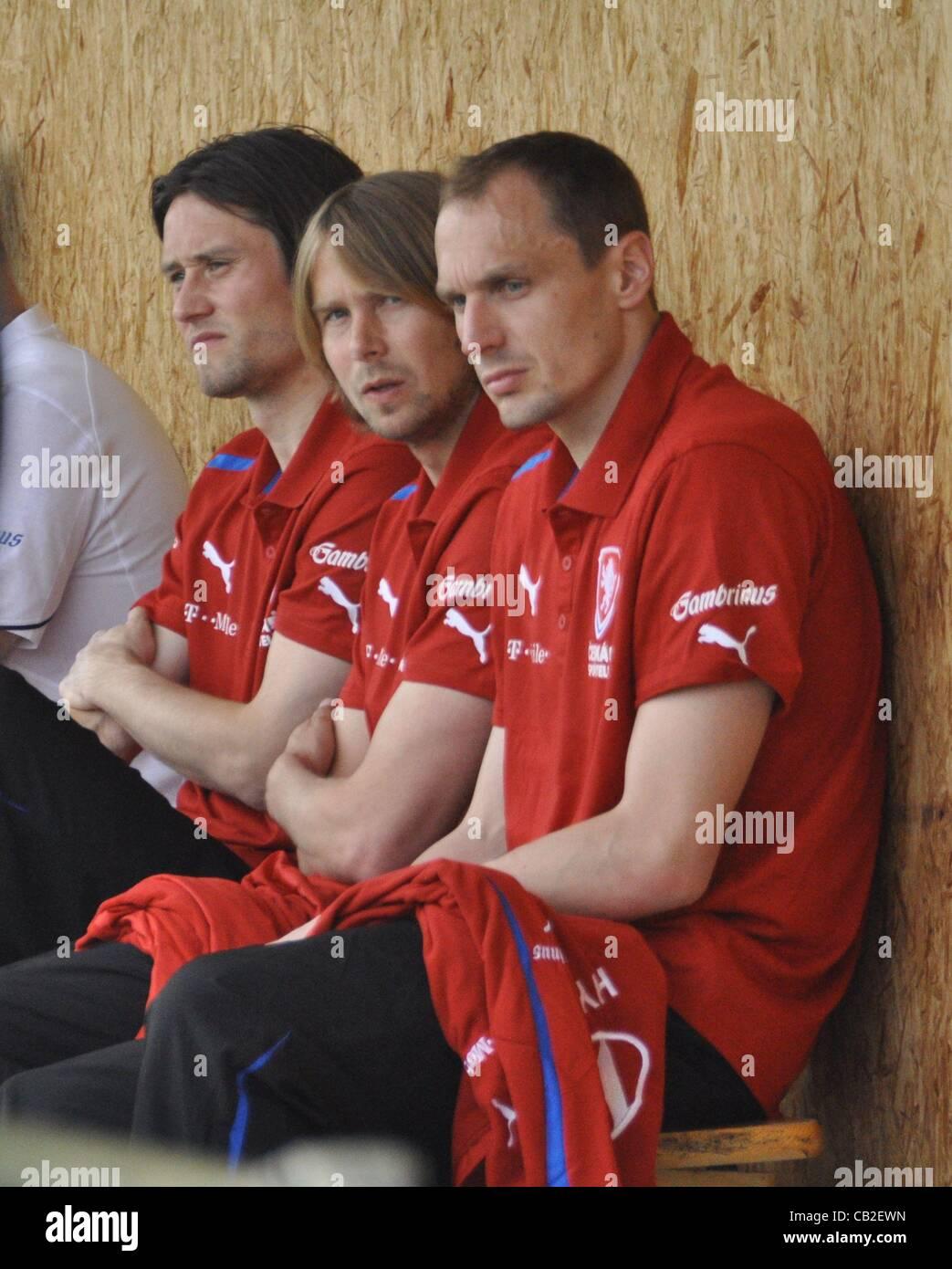 Czech national soccer players from left Tomas Rosicky Jaroslav