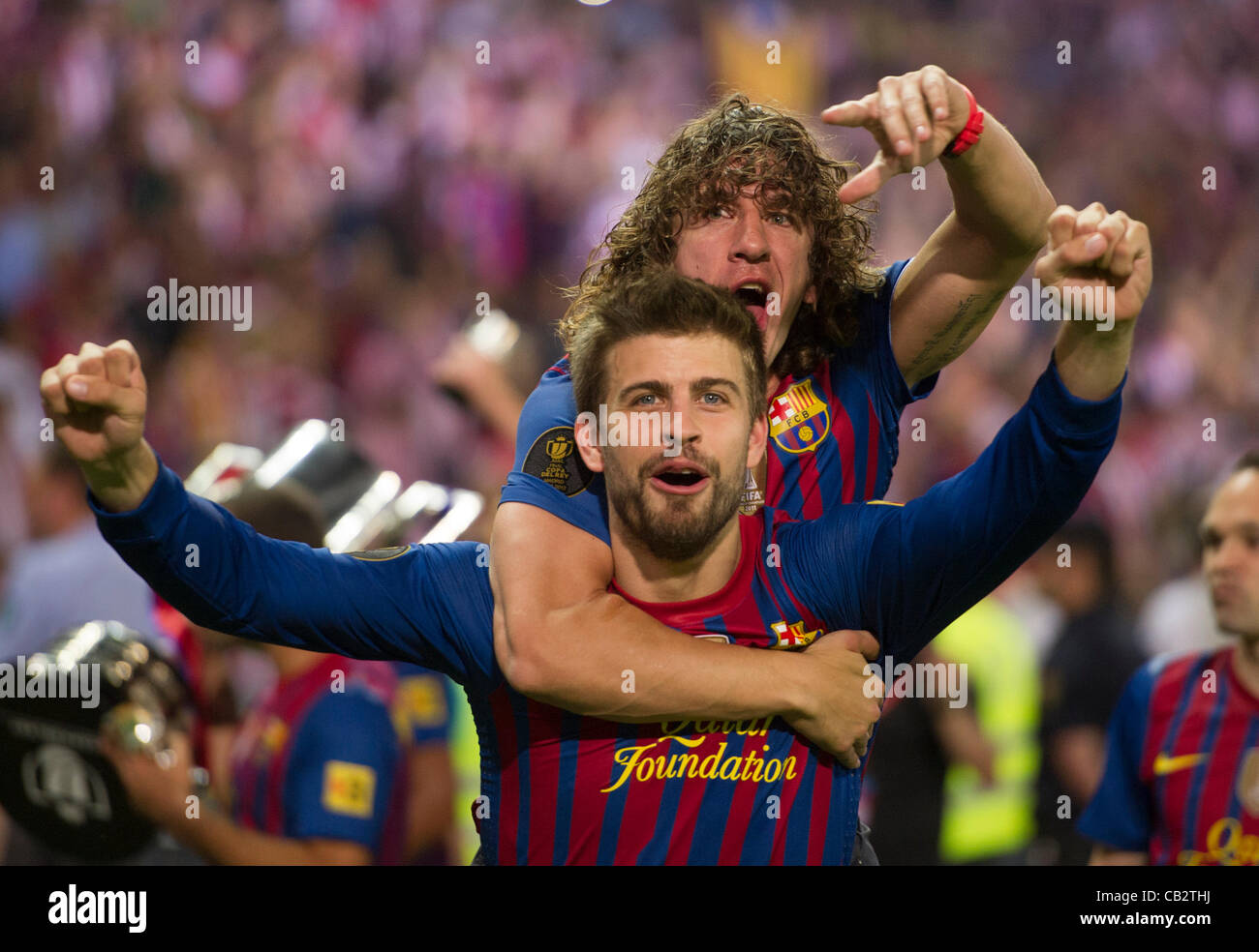 MADRID SPAIN MAY 25 Gerard Pique and Carles Puyol from Stock