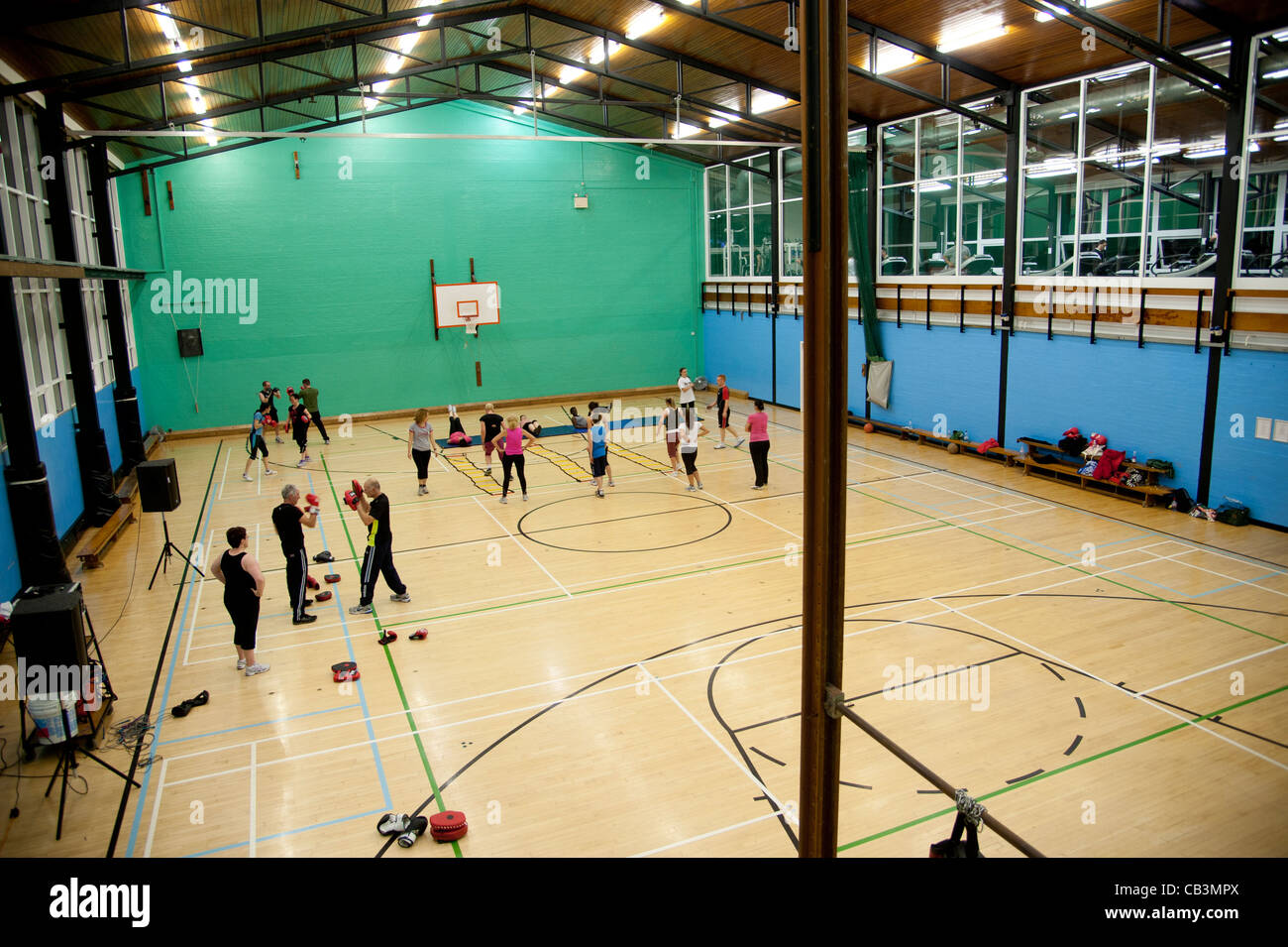 People At A Boxercise Class And Keep Fit At Aberystwyth University ...