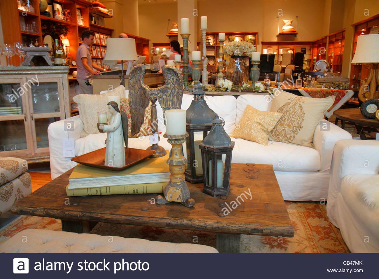 Boca Raton Florida Boca Center Centre Mall Shopping Pottery Barn Home Stock Photo Royalty Free