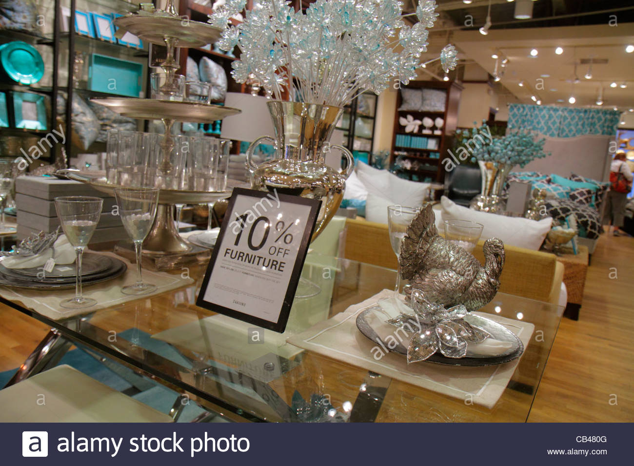 Boca Raton Florida Mizner Park Plaza Real Shopping Retail Display For Stock Photo Royalty Free