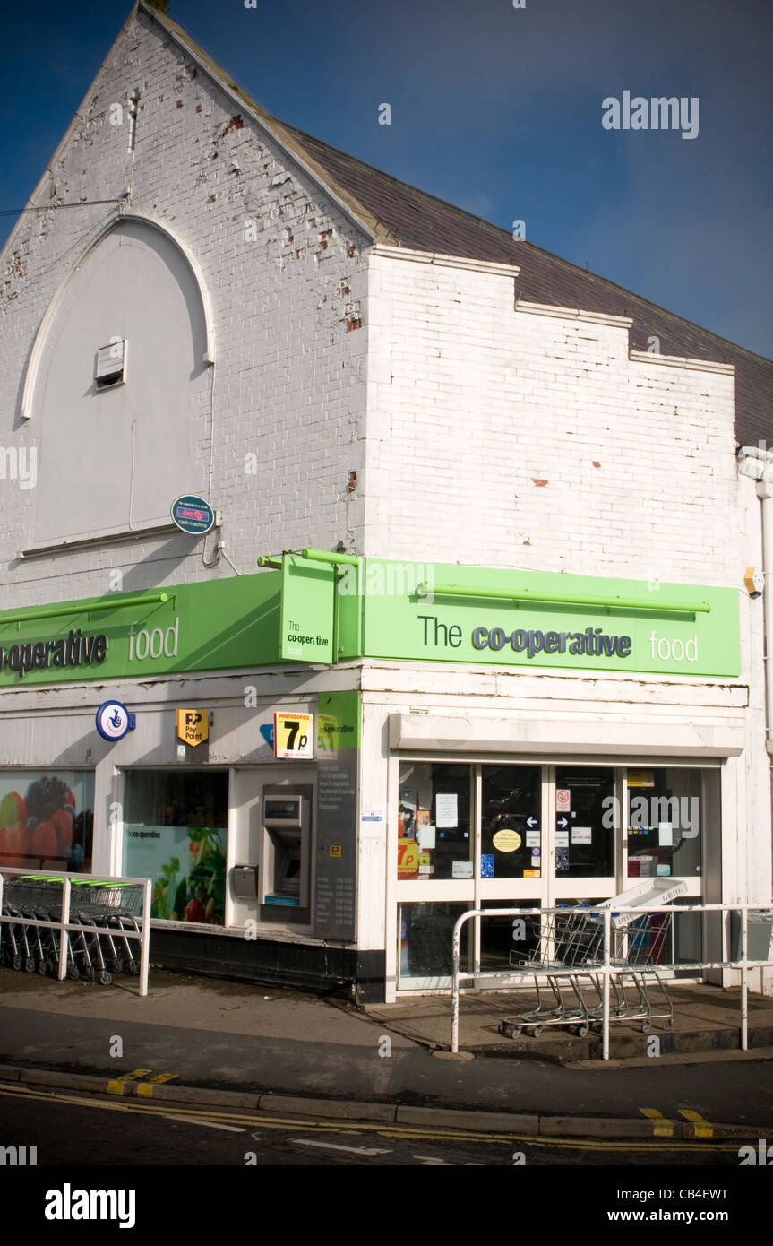 co op cooperative food retailer supermarket local shop store stores Stock Photo, Royalty Free ...