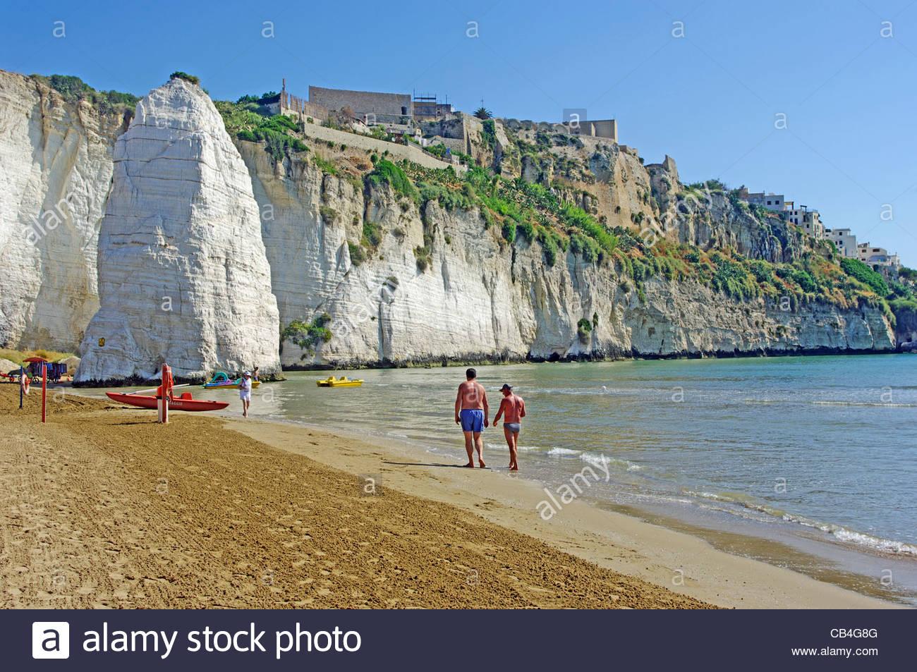 Pizzomunno Rock Cliff Beach Vieste Apulia Gargano
