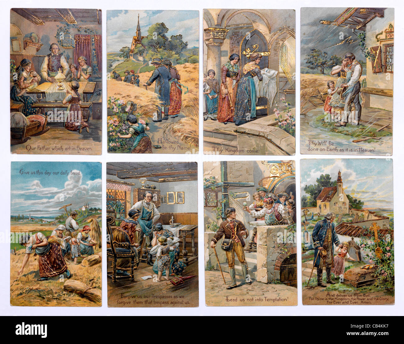 the lord u0027s prayer on religious postcards stock photo royalty free