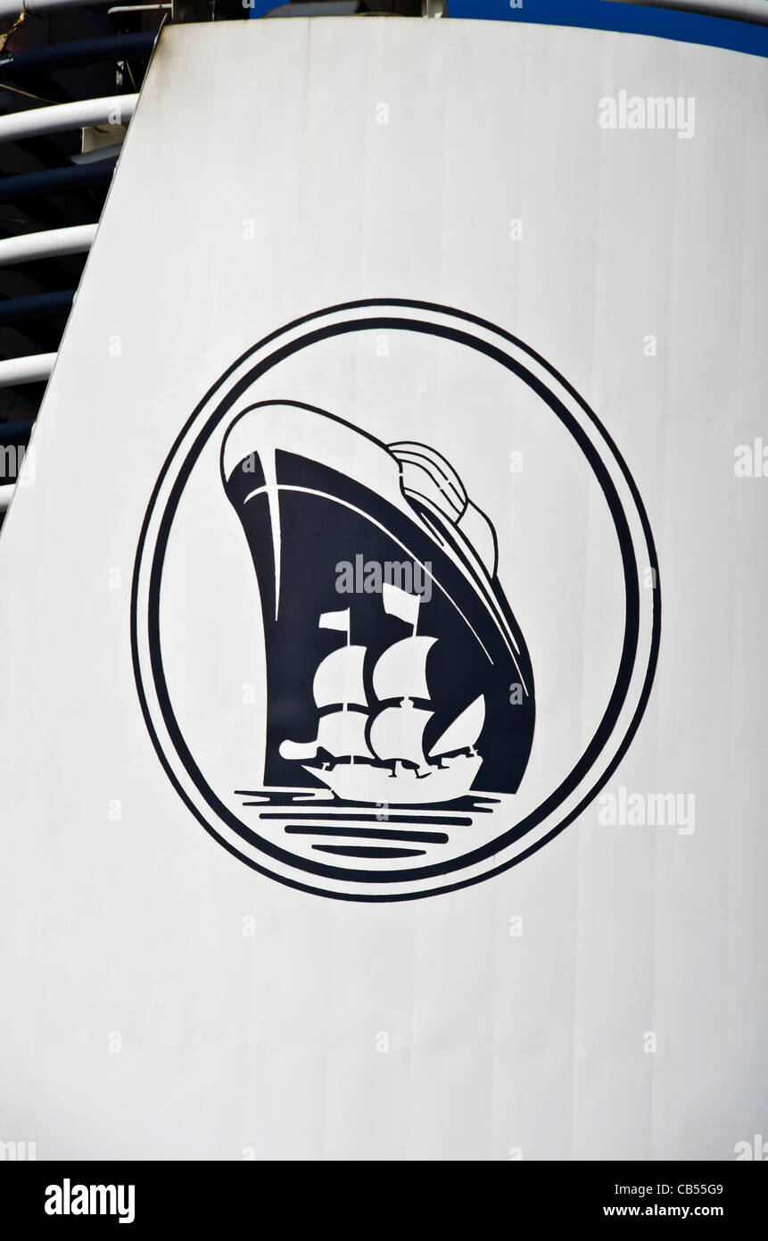 Holland America Cruise Ship With Cruise Ship Logo On Smoke Stack - Cruise ship logos