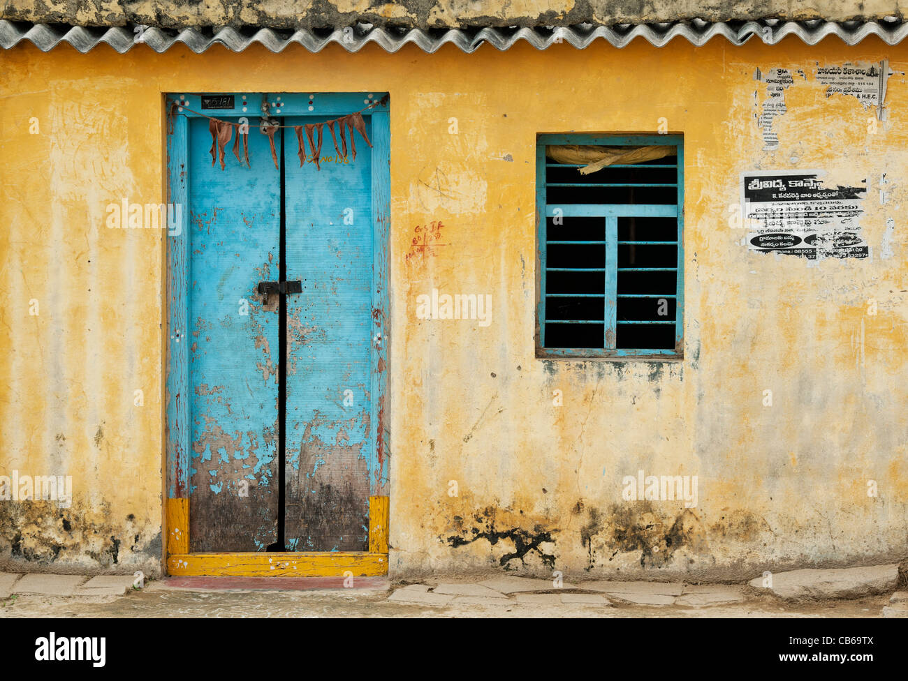 Old Indian Village House Andhra Pradesh India Stock