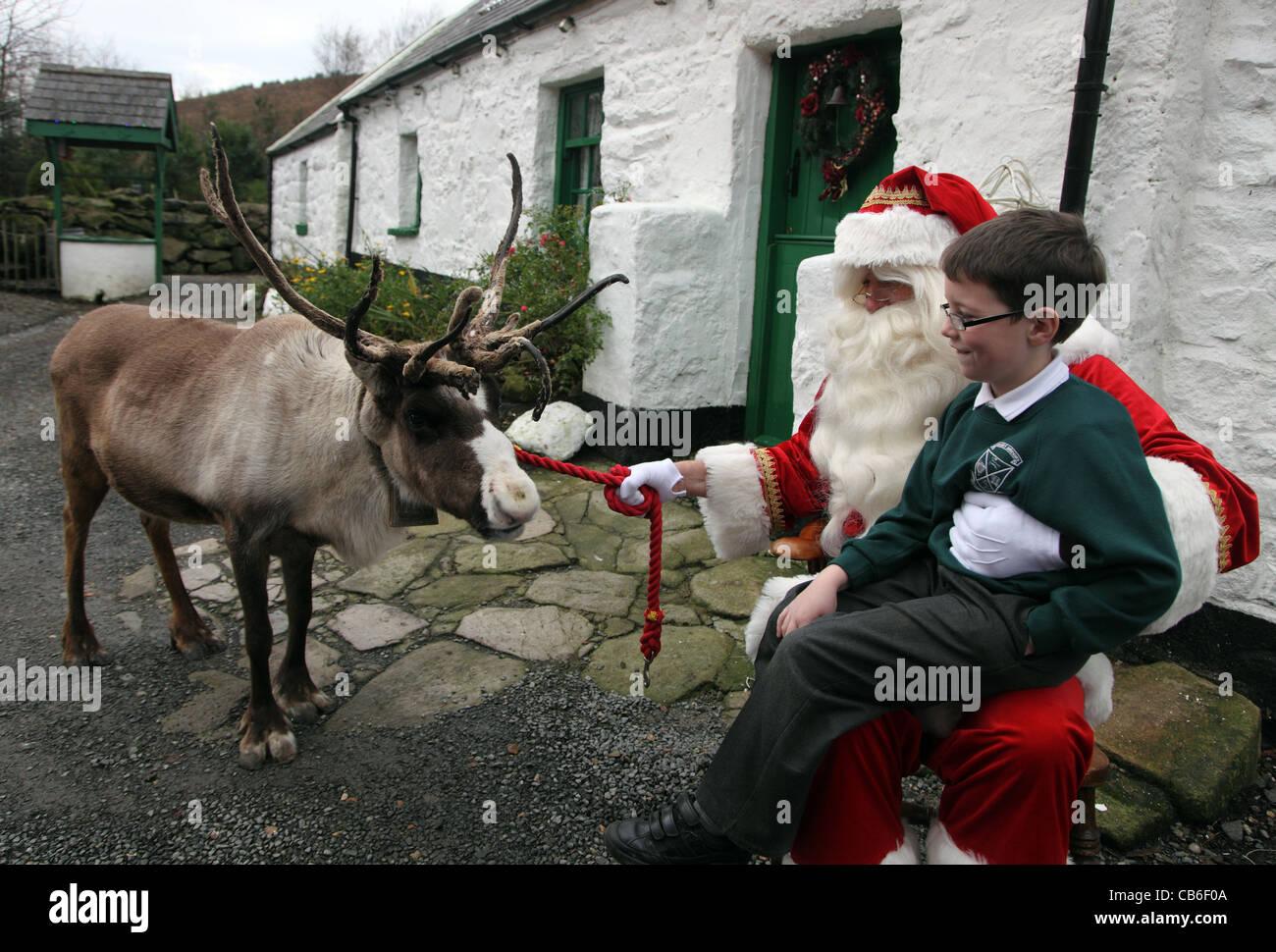 rudolph reindeer santa and oisin ruane at santa u0027s cottage co