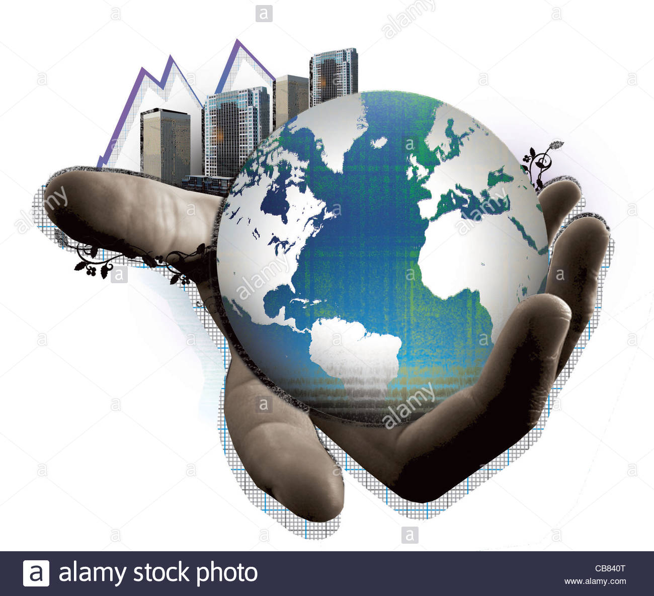 globe Hand Big city Globe Earth Globe Geography globe globe world