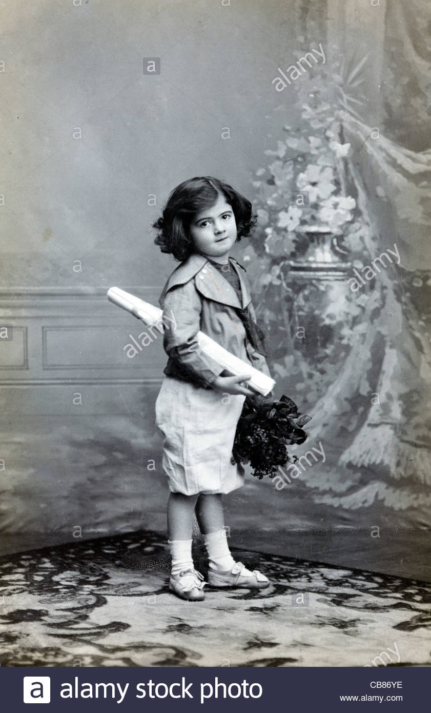 Studio Portrait Of A Young Child 1920s Stock Photo Royalty Free Image 41363042 Alamy