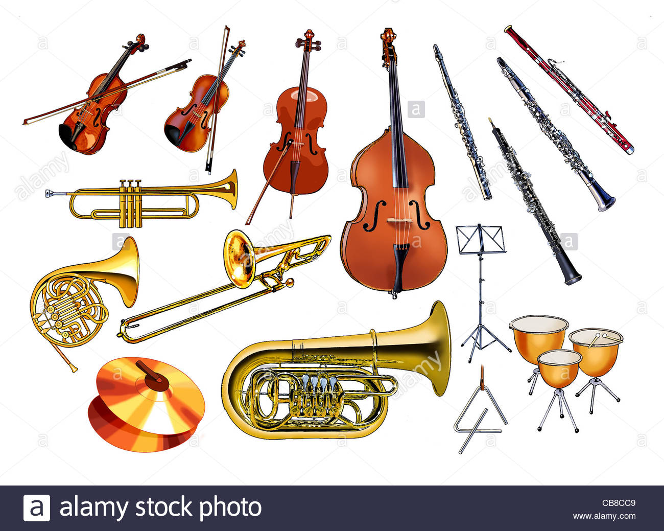 Orchestra Instruments Stock Photos & Orchestra Instruments Stock ...