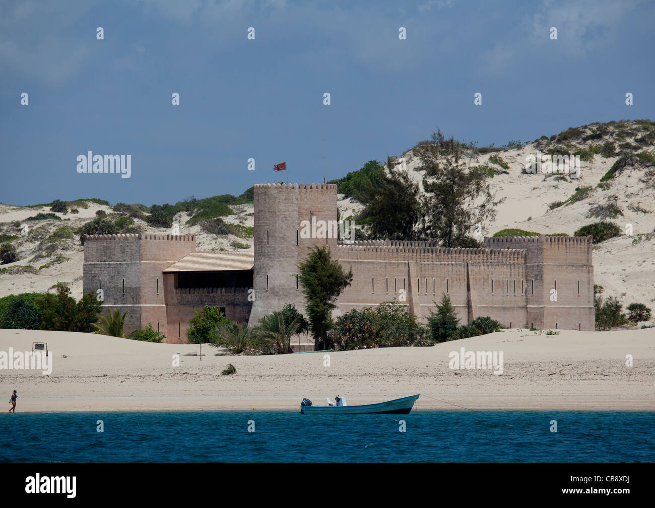 Lamu Kenya  city photos gallery : The Fort Hotel, Shela, Lamu, Kenya Stock Photo, Royalty Free Image ...
