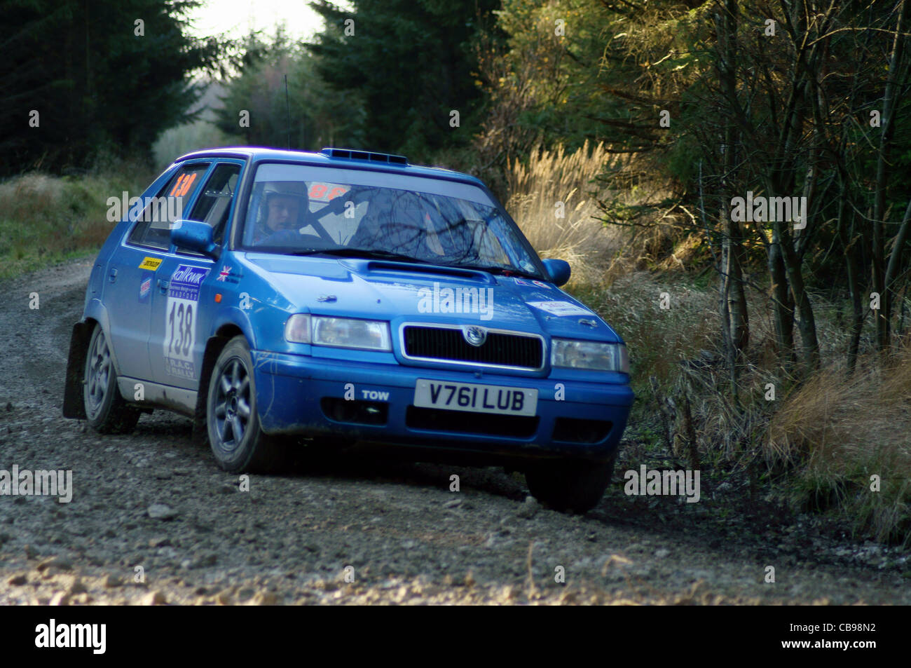 skoda felicia rally car stock photo royalty free image 41386382 alamy. Black Bedroom Furniture Sets. Home Design Ideas