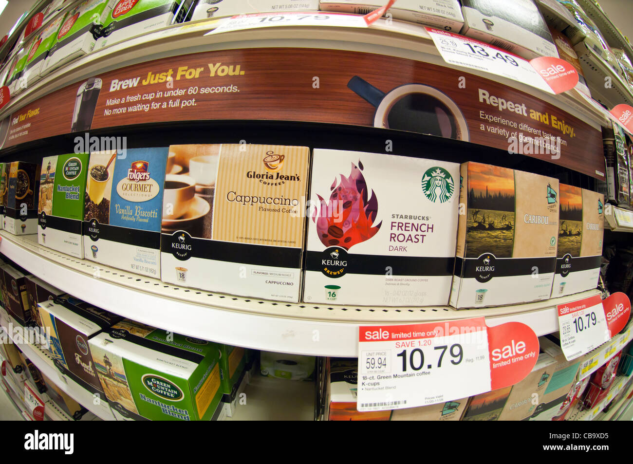 a selection keurig coffee pods from various brands in the grocery department in a target store - Keurig Coffee Pods