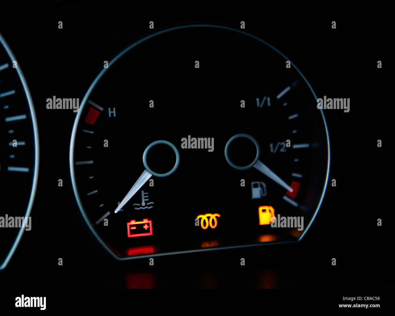Car Dashboard Sign Multifunction Display Stock Photo Royalty - Car sign on dashboard