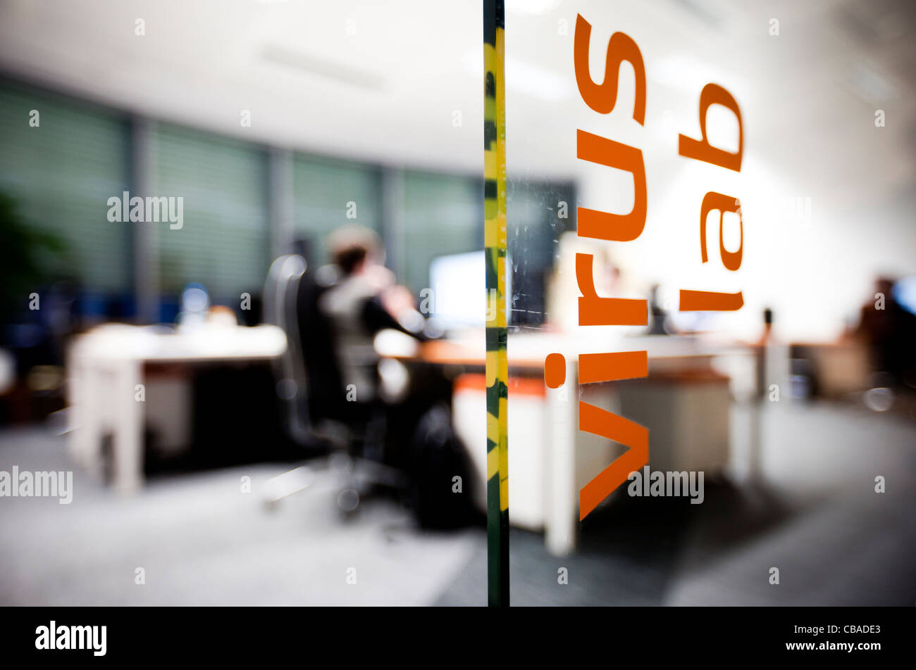 software company office. the virus lab office of avast software as at company headquarters in prague l