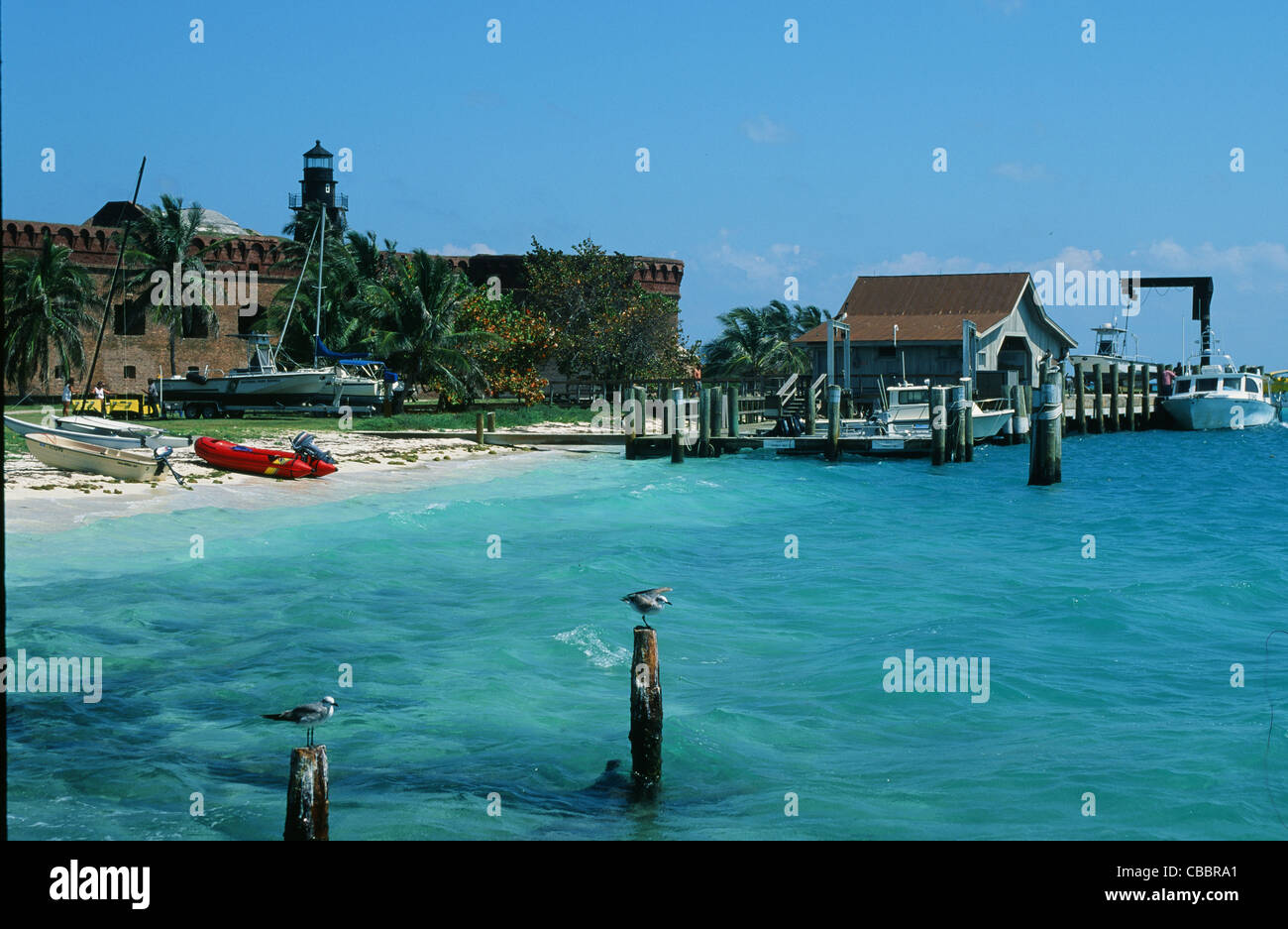Fort Jefferson On Garden Key In The Dry Tortugas National Park Near Stock Photo Royalty Free