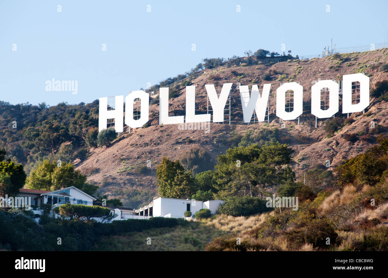the hollywood sign hollywood hills from griffith. Black Bedroom Furniture Sets. Home Design Ideas