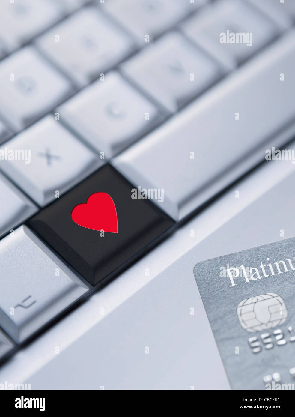 Internet Dating Finding Love Online Computer Keyboard With Heart