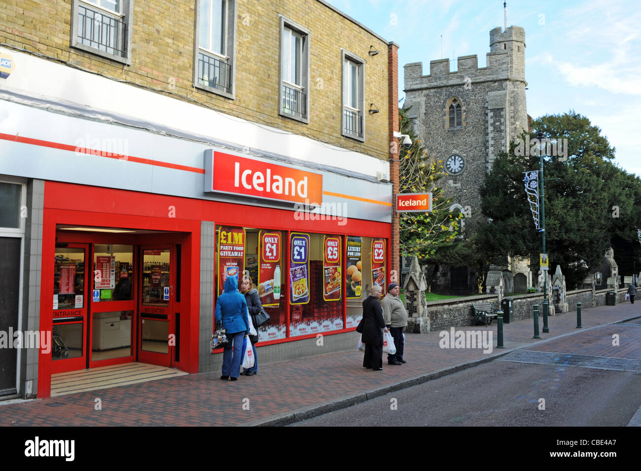 Iceland Frozen Food Shop In Sittingbourne High Street Kent