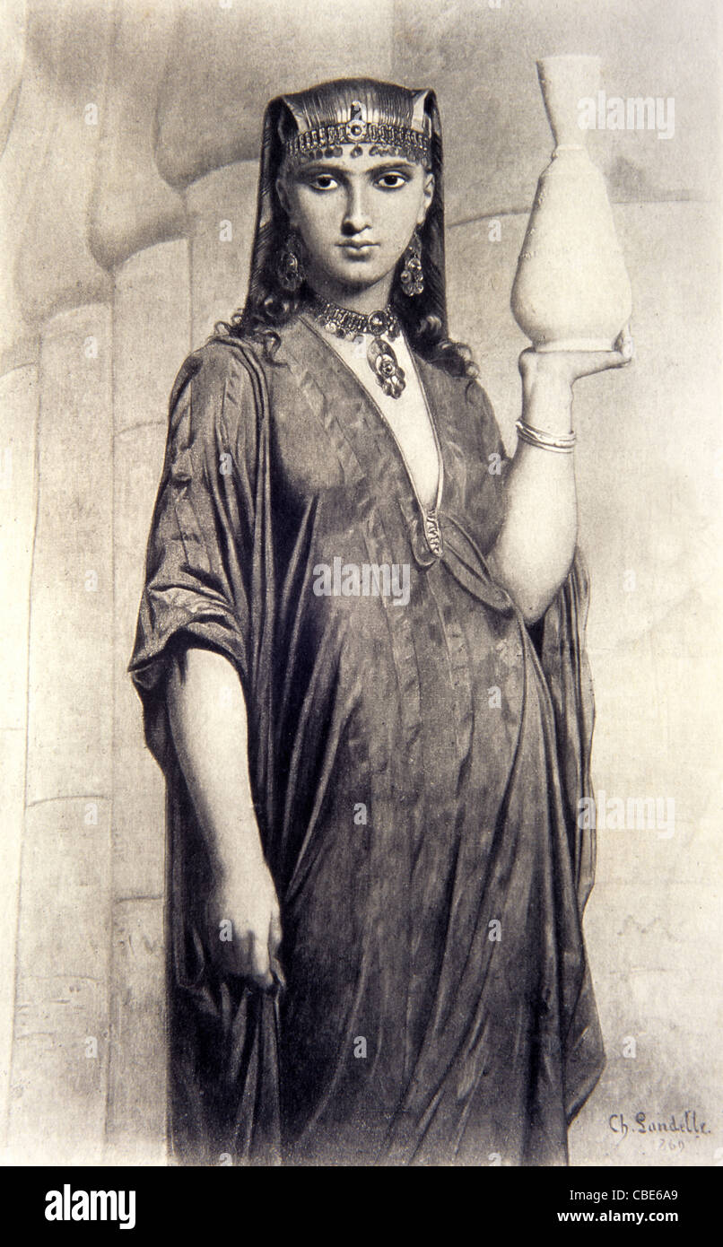 Ancient egyptian pot stock photos ancient egyptian pot stock egyptian woman from thebes ancient egypt in local dress carrying water pot c19th engraving kristyandbryce Choice Image