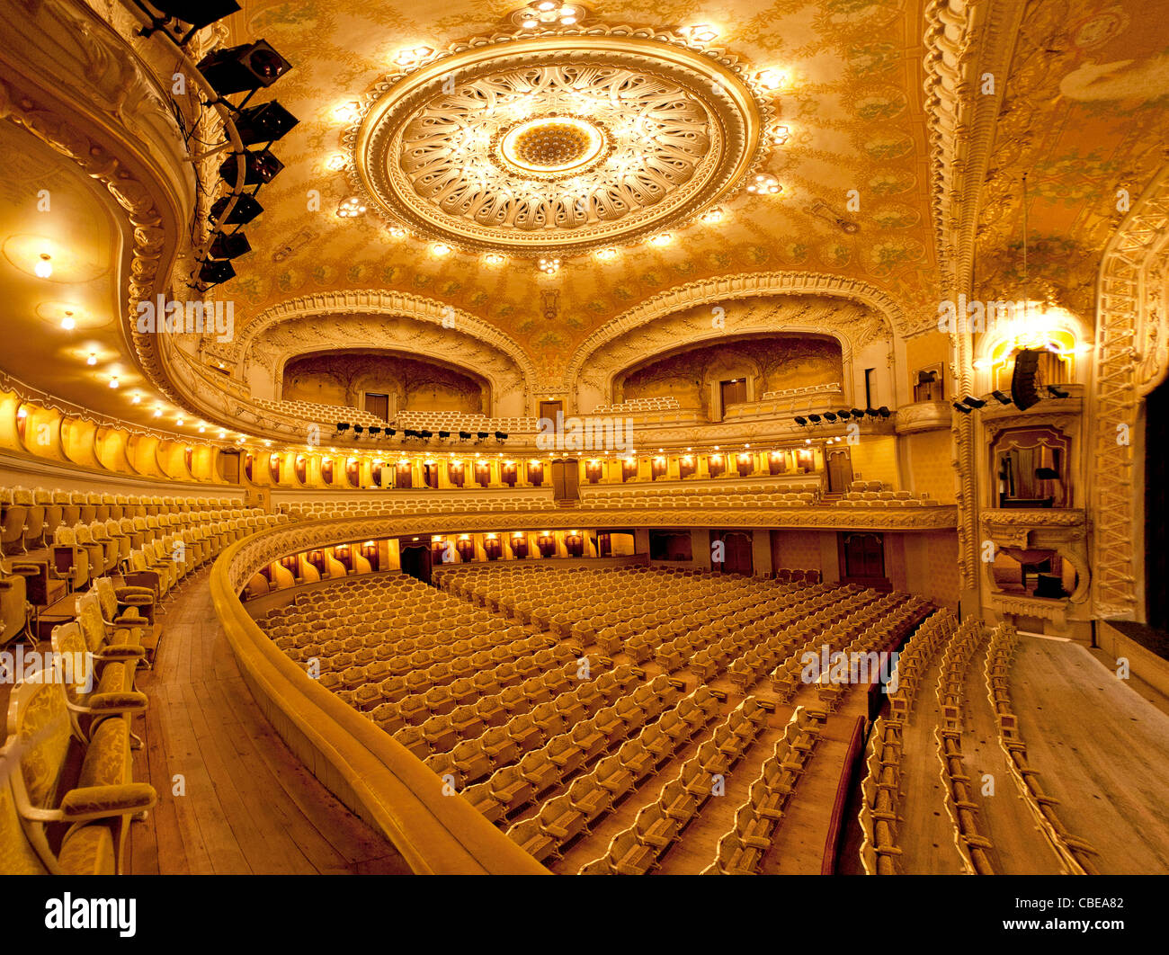 An Inner View Of The Vichy S Opera House Art Nouveau
