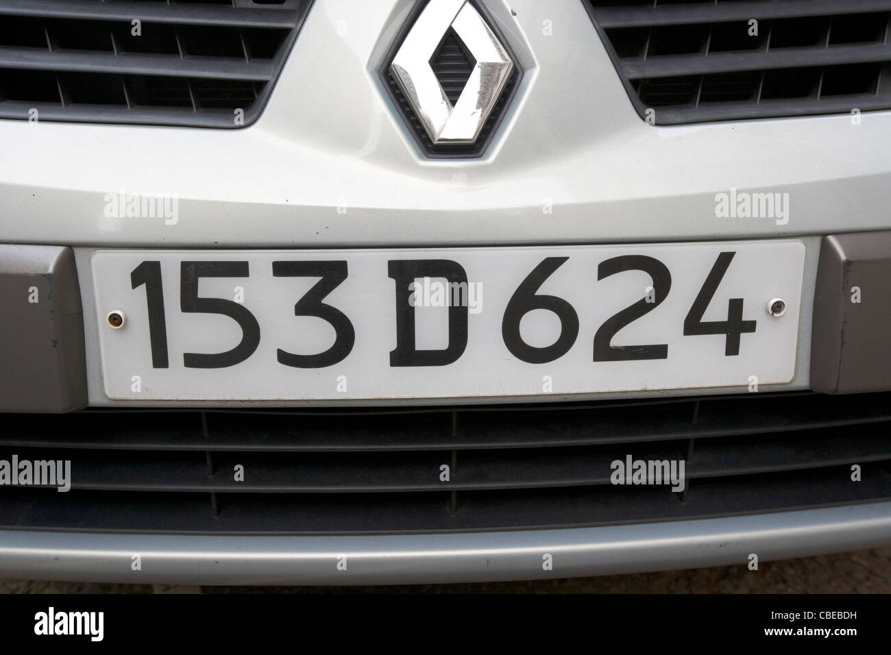 Diplomatic Plates On A French Embassy Car In London England Uk