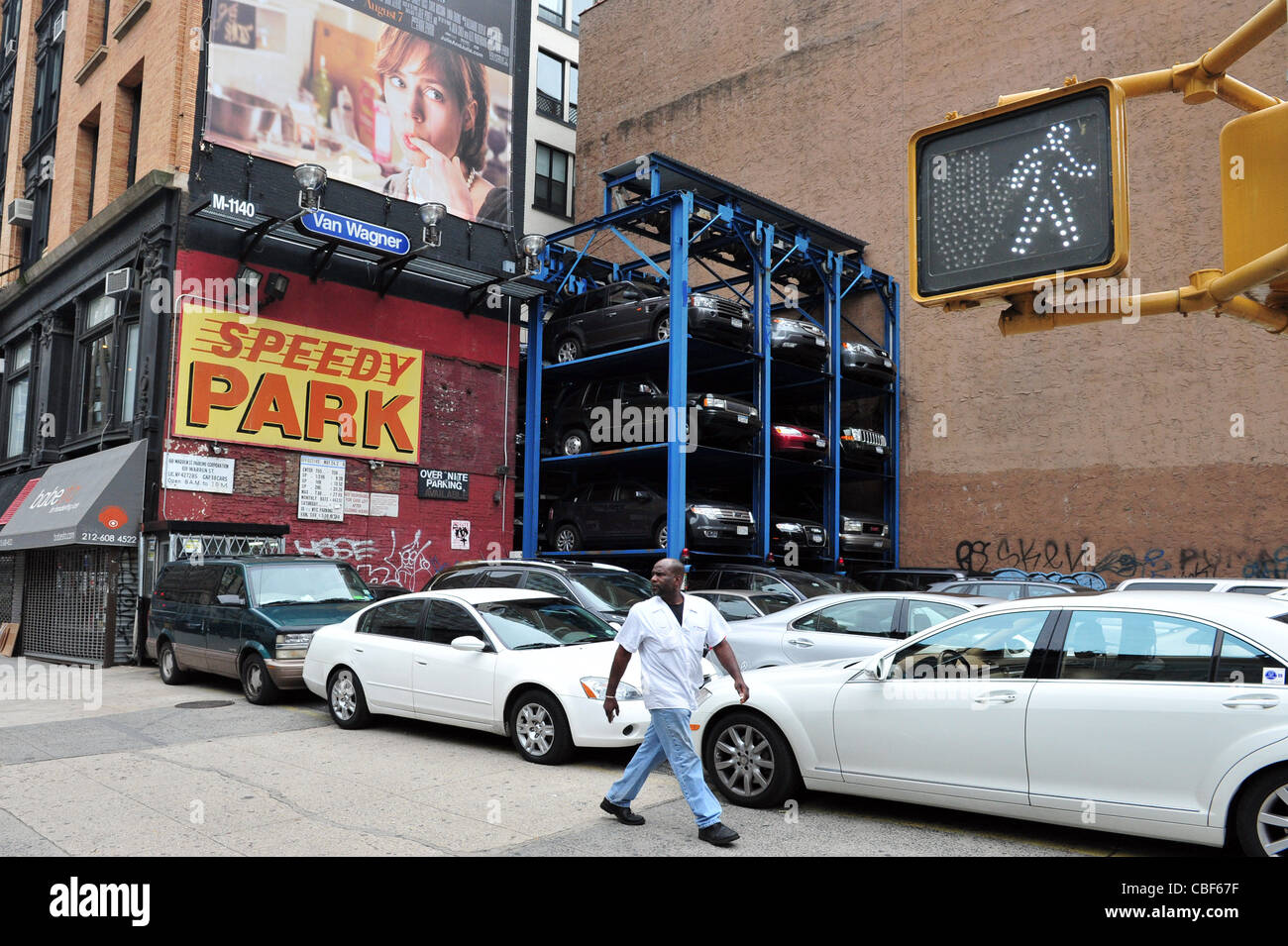 New York City Multi Story Automated Parking Lots Filled With Cars