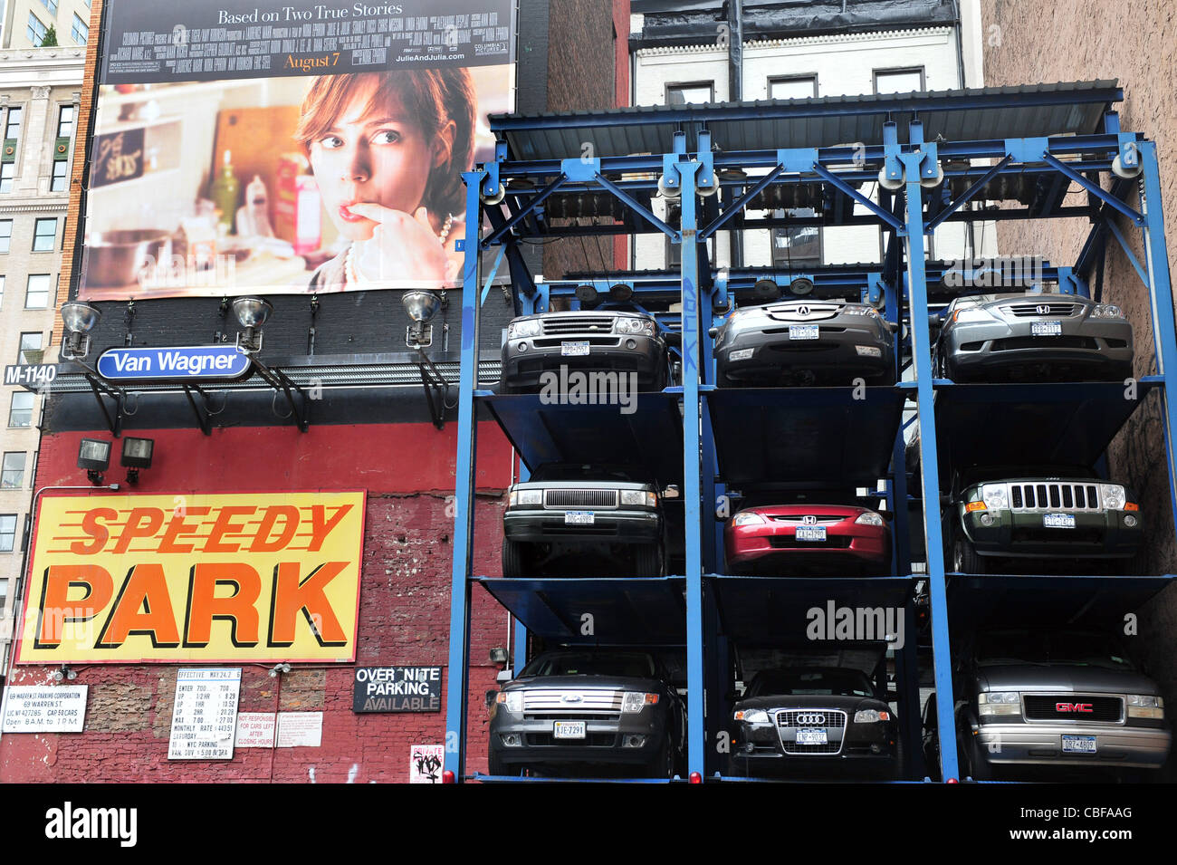 New york city multi story automated parking lots filled for New york city parking garage