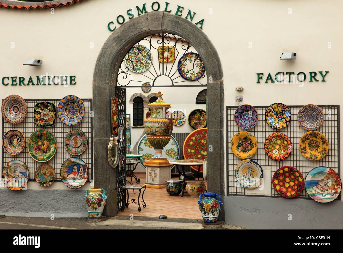 Italy Campania Amalfi Coast Ravello Ceramics Shop