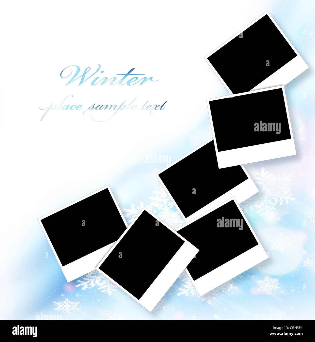Blank picture frames abstract snowflake decorative border blue blank picture frames abstract snowflake decorative border blue ornamental design with white text space many empty photo jeuxipadfo Gallery