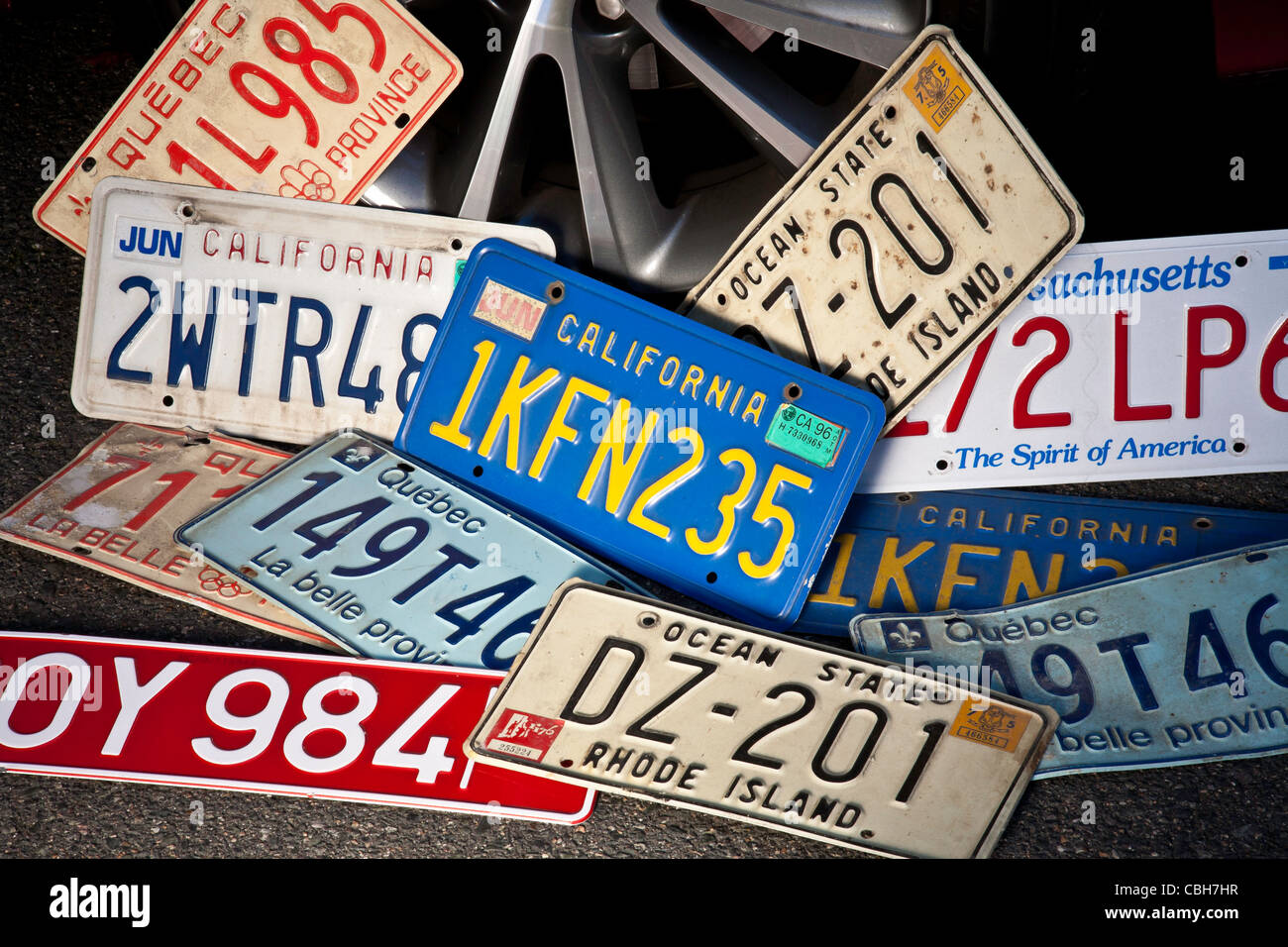 Automobile Vehicle Registration Plates Stock Photo, Royalty Free ...