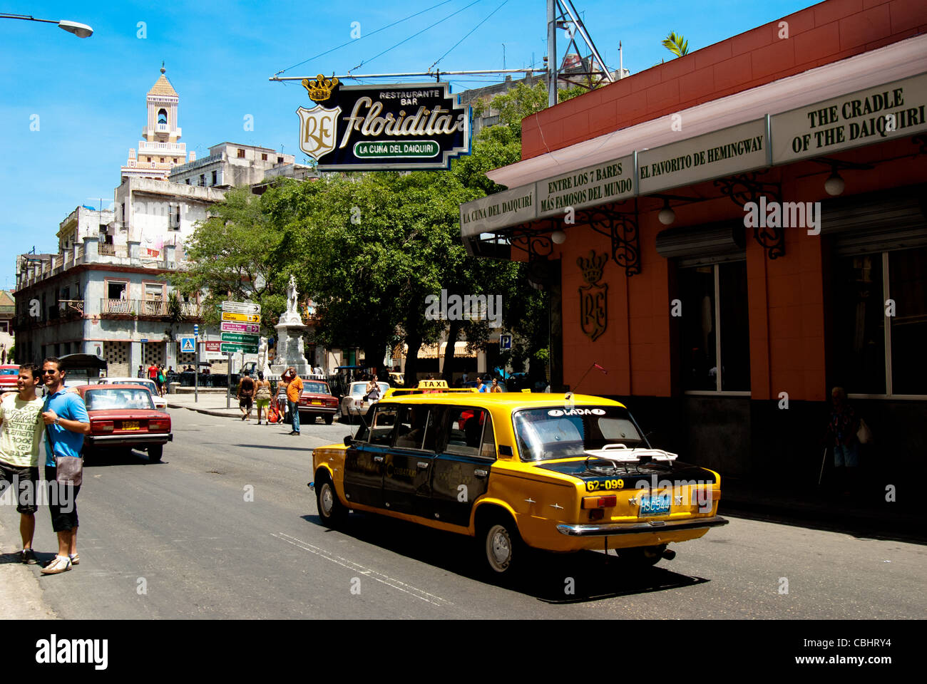 Webb Chevrolet >> Cuba Taxi driving past El Floridita in La Habana Vieja Havana Cuba Stock Photo, Royalty Free ...